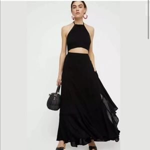 Free People Bring On the Heat Maxi in black